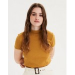 AE Mock Neck Cropped T-Shirt