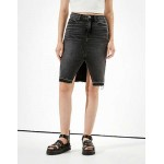 AE Super High-Waisted Denim Midi Skirt