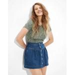 AE Super High-Waisted Denim Tiered Skirt