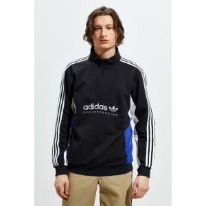 adidas Skateboarding Apian Quarter-Zip Mock Neck Pullover Sweatshirt