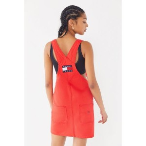 Tommy Jeans Denim Mini Overall Dress