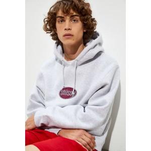 Stussy Embroidered Oval Logo Hoodie Sweatshirt