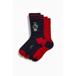Polo Ralph Lauren Varsity Bear Sock 2-Pack