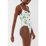 Onia X WeWoreWhat Danielle Lemon Underwire One-Piece Swimsuit