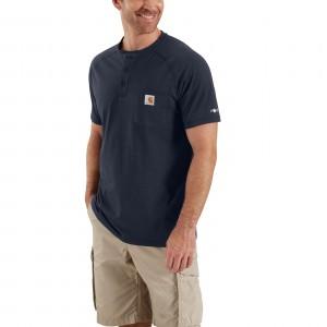 Carhartt Force Cotton Delmont Short-Sleeve Henley