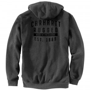 Carhartt Original Fit Midweight Hooded Rugged Workwear Graphic Sweatshirt