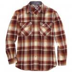 Carhartt Rugged Flex Relaxed Fit Lightweight Long-Sleeve Snap-Front Plaid Shirt