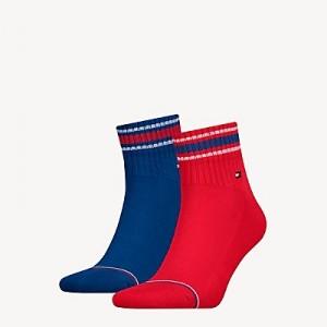 Stripe Quarter Top Sock 2PK