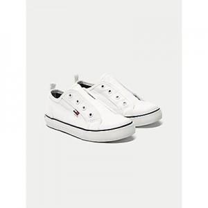 TH Kids White Laceless Sneaker