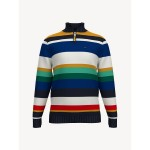 TH Kids Stripe Mockneck Sweater