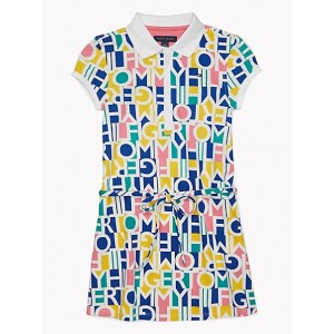 Logo Print Polo Dress