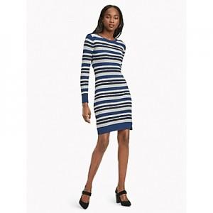 Essential Metallic Stripe Dress