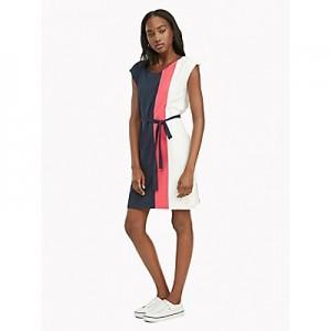 Essential Short-Sleeve Colorblock Dress