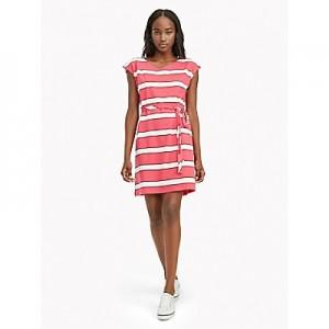 Essential Short-Sleeve Stripe Dress