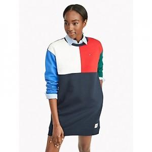 Essential Colorblock Sweatshirt Dress