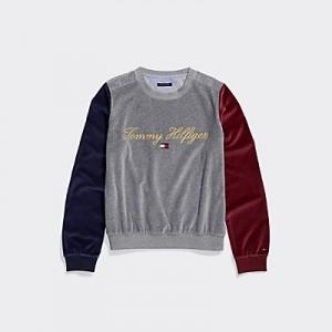 Velour Signature Sweatshirt