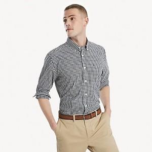 Cotton Twill Gingham Shirt
