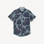 Short-Sleeve Palm Print Shirt