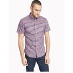 Custom Fit Essential Stripe Short-Sleeve Shirt