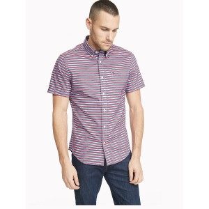 Custom Fit Essential Stripe Short-Sleeve Shirt