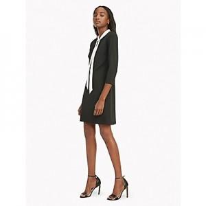 Long-Sleeve Bow Dress