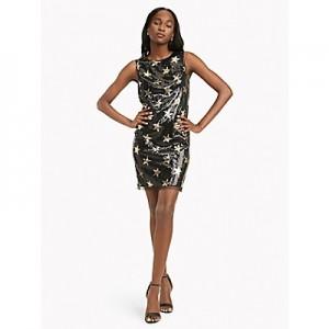 Sleeveless Star Sequin Dress
