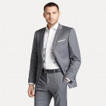 Regular Fit Blazer In Solid Grey