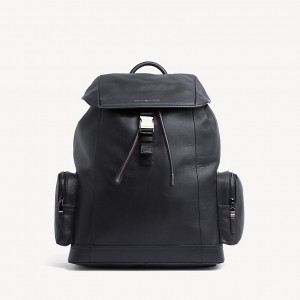 Leather Flap Backpack