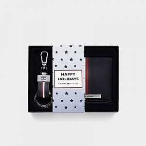 Credit Card Wallet and Keyring Set in Gift Box