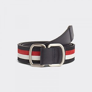 Leather Stripe Belt
