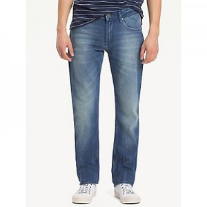 Faded Indigo Straight Fit Jean