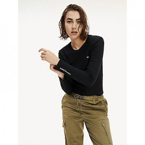 Pointelle Long-Sleeve T-Shirt
