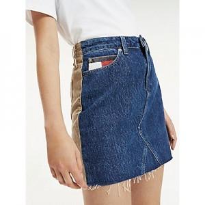Denim and Cord Skirt