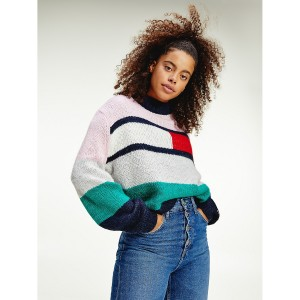 Recycled Bell Sleeve Flag Sweater