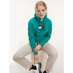 Organic Cotton Flag Cropped Hoodie