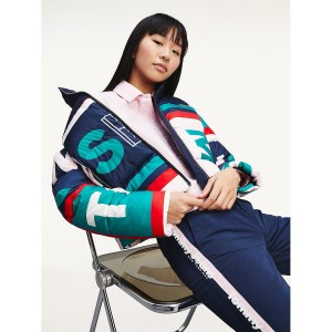 Allover Print Down Jacket