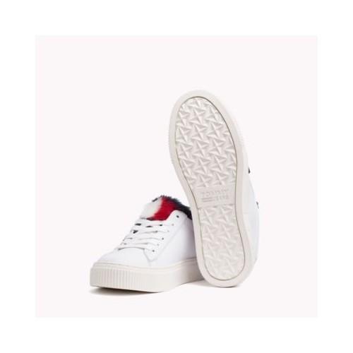 타미힐피거 Fur Trim Sneaker