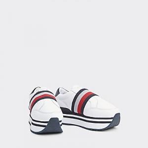 Leather Elastic Stripe Sneaker