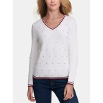 Essential Rhinestone V-Neck Sweater