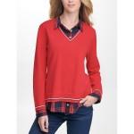Essential Plaid Twofer Sweater