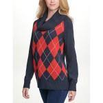 Essential Argyle Cowl Neck Sweater