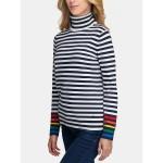 Essential Stripe Turtleneck Sweater