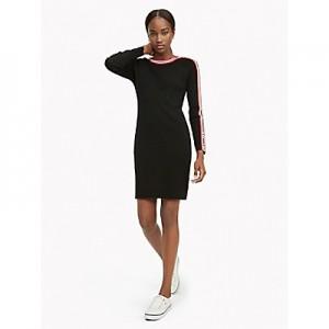 Racer Stripe Sweater Dress