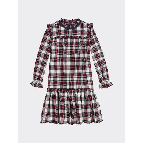 타미힐피거 TH Kids Long Sleeve Check Dress