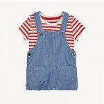 TH Baby 2-in-1 Overall Dress And T-Shirt