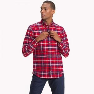 Brushed Cotton Flannel Plaid Shirt
