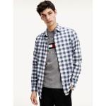 Slim Fit Herringbone Check Shirt