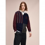 Hilfiger Collection Striped Patchwork Knit Rugby