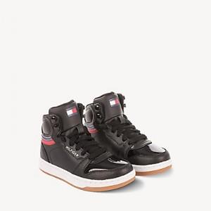 TH Kids Black High Top Sneaker