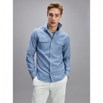 Slim Fit Washed Chambray Shirt